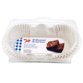 Tala siliconised 1lb loaf liners