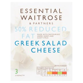 essential Waitrose Greek light salad cheese, strength 3