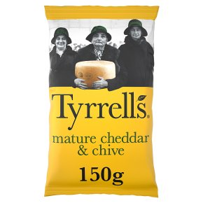 Tyrrells mature cheddar & chives potato chips