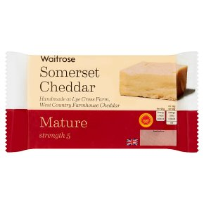 Waitrose Somerset Cheddar Mature Strength 5