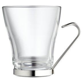Waitrose Glass Coffee Mug