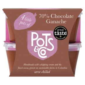 Little Pots of 70% Chocolate
