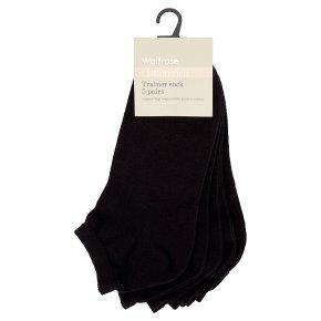 Waitrose Trainer Socks Black