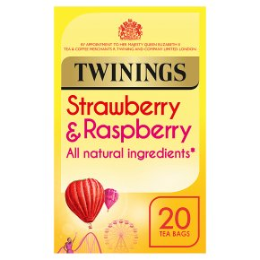 Twinings strawberry & raspberry 20 tea bags