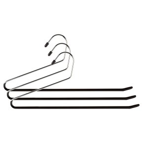 Waitrose trouser hangers, pack of 3