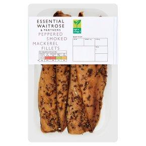 Waitrose peppered smoked mackerel fillets