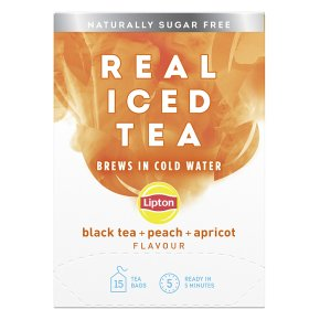 Lipton Real Iced Tea Black Tea, Peach, Apricot 15s