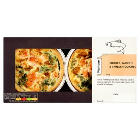 Waitrose 1 Smoked Salmon & Spinach Quiches