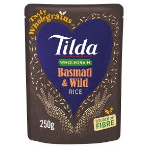 Tilda brown basmati & wild rice wholegrain