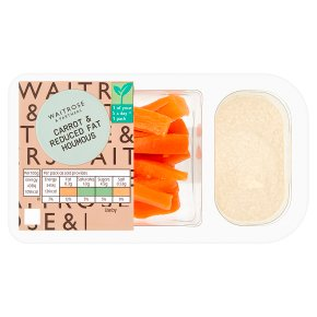 Waitrose LoveLife carrot & reduced fat houmous