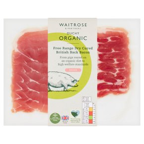 Duchy Organic cherrywood smoked back bacon, 6 rashers