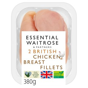 essential Waitrose British Chicken 2 Breast Fillets