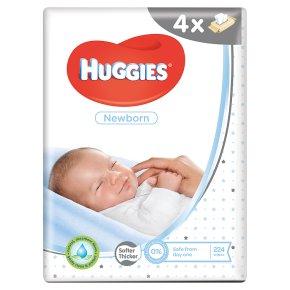 Huggies Newborn Baby Wipes Quad Pack