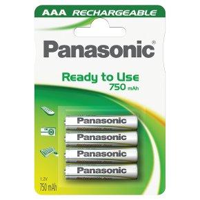 Panasonic ready to use 750mAh AAA