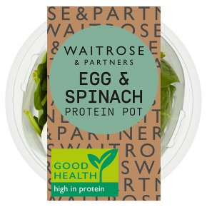 Waitrose LoveLife Egg & Spinach Protein Pot