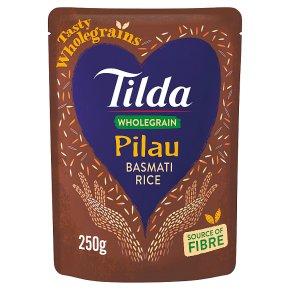 Tilda Wholegrain Pilau Microwave Basmati Rice Classics