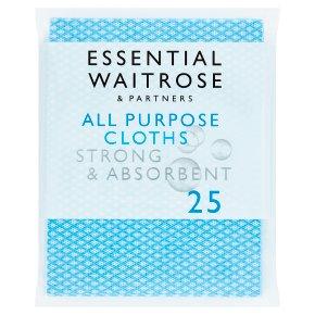 essential Waitrose All Purpose Cloths