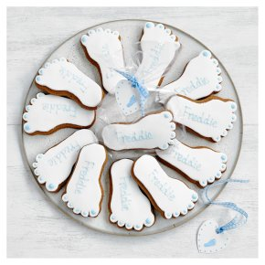 Fiona Cairns Baby Footprint Biscuits (Blue)