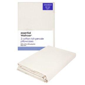 essential Waitrose standard cream pillowcases