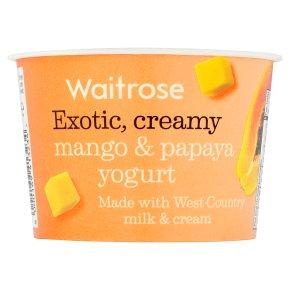 Waitrose Mango & Papaya Yogurt