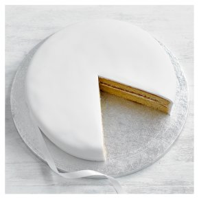 Fiona Cairns Vanilla Sponge Celebration Cake 25cm (Undecorated)
