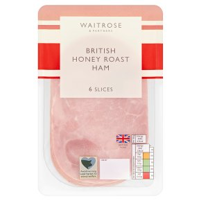 Waitrose British honey roast ham, 6 slices
