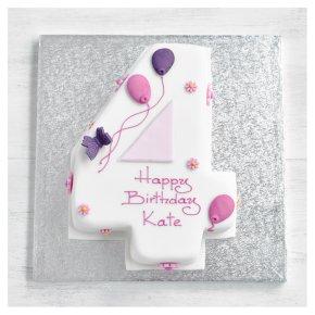 4th Birthday Butterfly Cake
