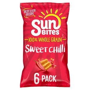 Sunbites wholegrain snacks sweet chilli multipack crisps