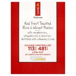 Waitrose LoveLife Red Fruit Toasted Rice & Wheat Flakes