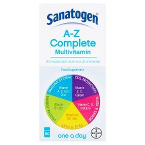 Sanatogen A-Z complete multivitamin