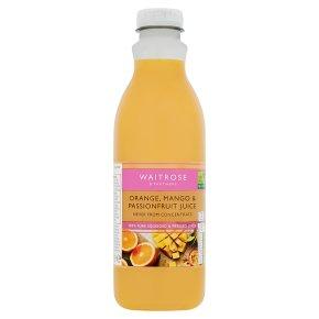 Waitrose orange, mango & passionfruit juice