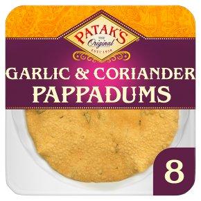 Patak's pappadums garlic & coriander