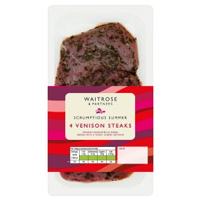 Waitrose 4 Venison Steaks
