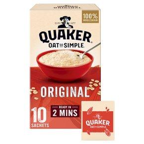 Quaker Oat So Simple original porridge cereal sachets