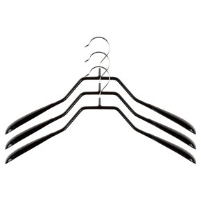 Waitrose black knitware hangers, pack of 3