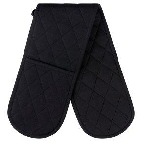 essential Waitrose Black Double Oven Glove