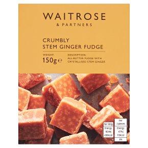 Waitrose Stem Ginger Crumbly Fudge