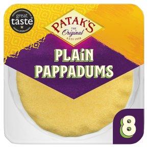 Patak's Plain Pappadums