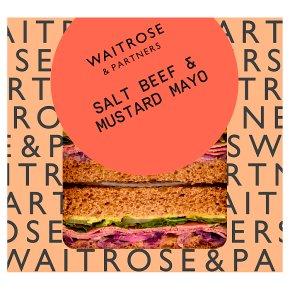 Waitrose Salt Beef & Mustard Mayo Sandwich