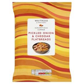 Waitrose Pickled Onion & Cheddar Flatbreads