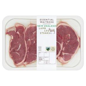 essential Waitrose 4 New Zealand lamb steaks