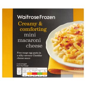 Waitrose Frozen mini macaroni cheese