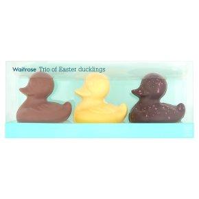 Waitrose Trio of Chocolate Easter Ducklings