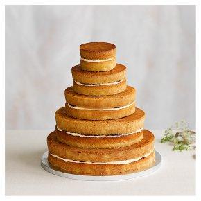Naked 5 tier Wedding Cake, vanilla sponge (5 tiers)