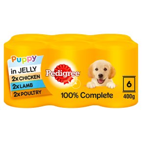 PEDIGREE Puppy Tins Mixed Selection in Jelly 6 x 400g
