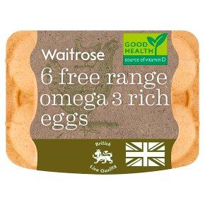 Waitrose Free Range Omega 3 Rich Eggs