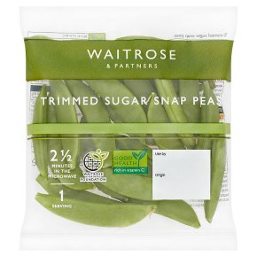 Waitrose Trimmed sugar snap peas