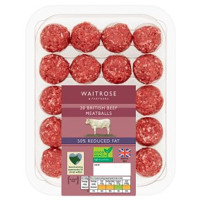 Waitrose Reduced Fat British Beef Meatballs