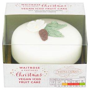 Waitrose Christmas Vegan Iced Fruit Cake