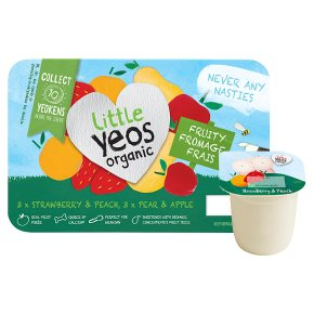 Little Yeos Organic Strawberry, Peach, Pear & Apple kids fromage frais yogurts